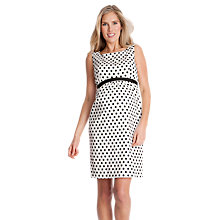 Buy Séraphine Martina Spot Maternity Dress, Black/White Online at johnlewis.com