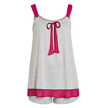 Buy DKNY City Socialite Striped Tank and Boxer Pyjama Set, Grey / Pink Online at johnlewis.com