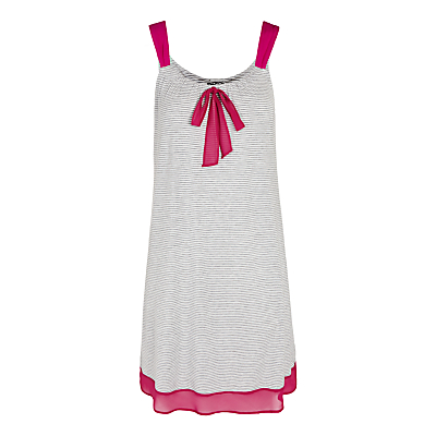 DKNY City Socialite Stripe Chemise, Grey / Pink