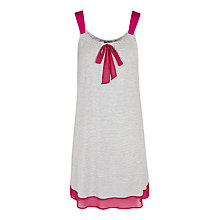 Buy DKNY City Socialite Stripe Chemise, Grey / Pink Online at johnlewis.com