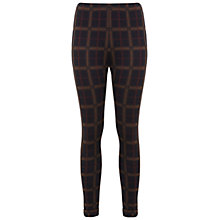 Buy Miss Selfridge Camel Tube Trousers, Navy/Red Online at johnlewis.com