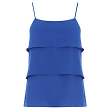 Buy Oasis Tiered Cami, Rich Blue Online at johnlewis.com