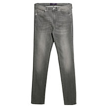 Buy Violeta by Mango Straight Fit Theresa Jeans, Grey Online at johnlewis.com
