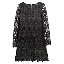 Buy Mango Guipure Lace Dress, Black Online at johnlewis.com