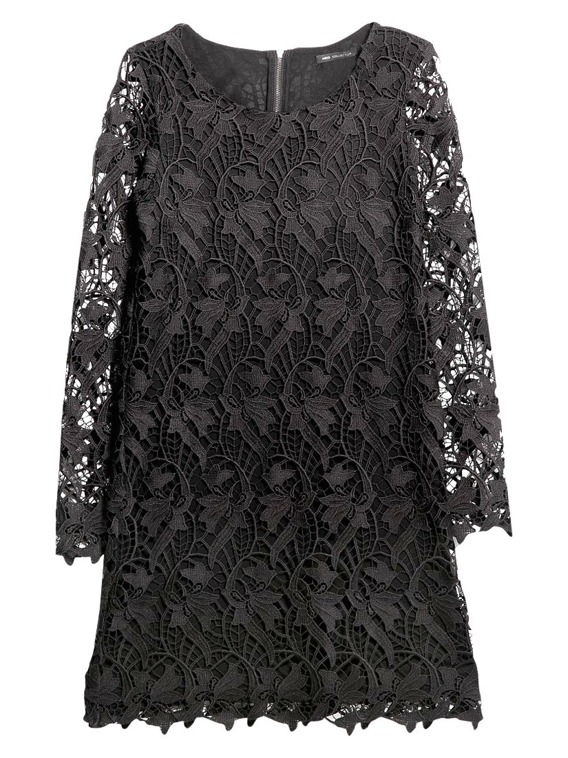 mango guipure lace dress black, mango, guipure, lace, dress, black, 10|12, clearance, womenswear offers, womens dresses offers, women, party outfits, lace dress, inactive womenswear, new reductions, womens dresses, special offers, 1789506