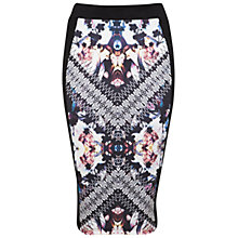 Buy Miss Selfridge Mirror Pencil Skirt, Multi Online at johnlewis.com