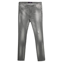 Buy Violeta by Mango Slim Fit Pupi Jeans, Grey Online at johnlewis.com