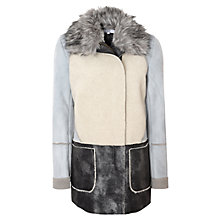 Buy True Decadence Contrast Shearling Coat, Multi Online at johnlewis.com