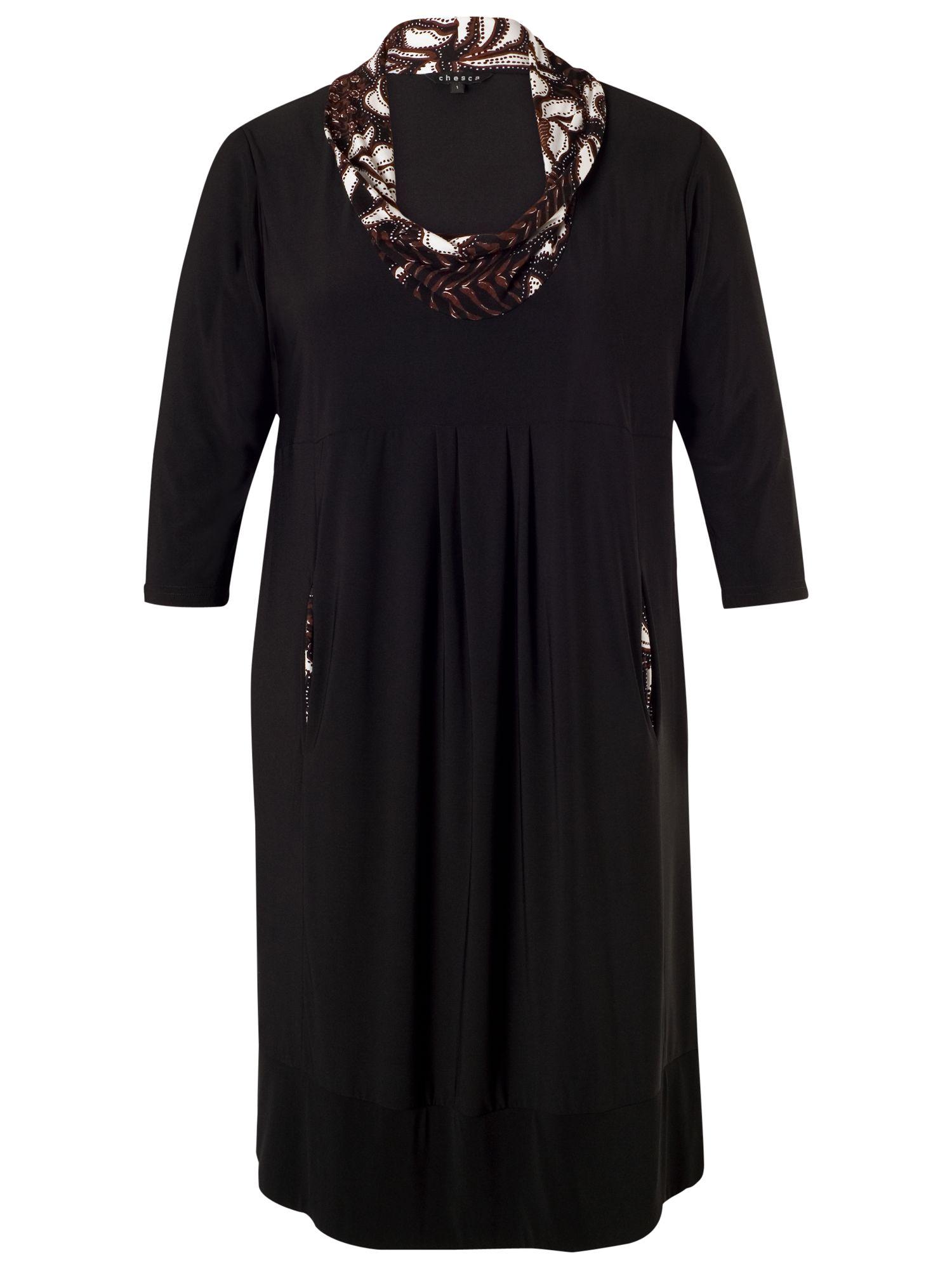 chesca jersey dress black, chesca, jersey, dress, black, 12-14|24-26|20-22|16-18, women, plus size, womens dresses, 1783379