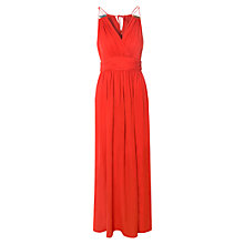 Buy True Decadence Ruched Halter Neck Maxi Dress, Red Online at johnlewis.com