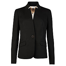 Buy Ted Baker Textured Pique Square Blazer, Black Online at johnlewis.com