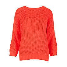 Buy Ted Baker Tuck Stitch Jumper, Bright Red Online at johnlewis.com