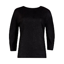 Buy Ted Baker Snake Effect Top, Black Online at johnlewis.com