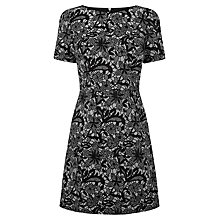 Buy Oasis Bonded Lace Dress, Multi White Online at johnlewis.com