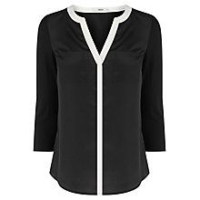 Buy Oasis Tipped Woven Front Shirt Online at johnlewis.com