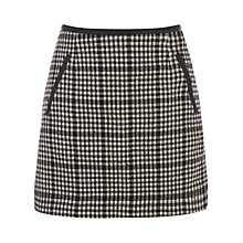 Buy Oasis Mini Checked Marley Skirt, Multi Black Online at johnlewis.com