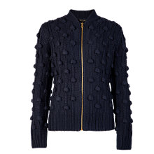Buy Ted Baker Bobble Knit Bomber Jacket, Multi Online at johnlewis.com