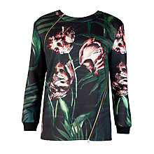 Buy Ted Baker Palm Floral Print Jumper, Multi Online at johnlewis.com