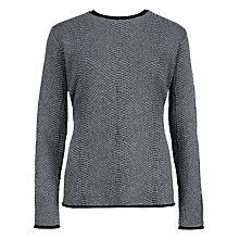Buy Ted Baker Zip Back Snake Print Jacquard Jumper, Grey Online at johnlewis.com