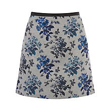 Buy Oasis Primrose Print Skirt, Multi Grey Online at johnlewis.com