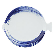 Buy John Lewis Nordic Brush Stroke Fish Platter, Blue/White Online at johnlewis.com
