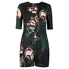 Buy Ted Baker Sarena Palm Floral Print Playsuit, Black Online at johnlewis.com