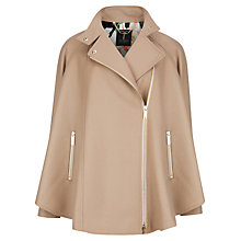 Buy Ted Baker Zip Front Cape Coat, Taupe Online at johnlewis.com