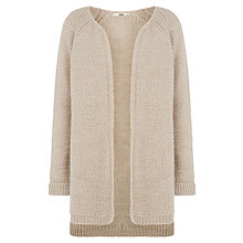 Buy Oasis Waffle Cardigan, Light Neutral Online at johnlewis.com