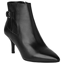 Buy L.K. Bennett Frances Nappa Leather Ankle Boots, Black Online at johnlewis.com