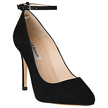 Buy L.K. Bennett Hannah Suede Court Shoes, Black Online at johnlewis.com