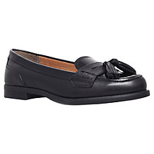 Buy KG by Kurt Geiger Lotto Leather Loafers, Black Online at johnlewis.com