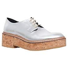 Buy KG by Kurt Geiger Ludo Chunky Platform Leather Brogues, Silver Online at johnlewis.com