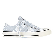 Buy Converse Chuck Taylor All Star Bandana Print Canvas Trainers, Fountain Blue Online at johnlewis.com
