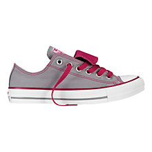 Buy Converse All Star Chuck Taylor Canvas Ox Low-Top Trainers, Grey Online at johnlewis.com