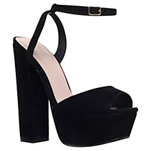 Buy KG by Kurt Geiger Hero Platform High Heel Sandals, Black Online at johnlewis.com