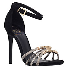 Buy KG by Kurt Geiger Havana Suede Stiletto Sandals, Black Online at johnlewis.com
