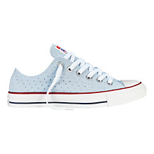 Buy Converse All Star Chuck Taylor Canvas Summer Ox Low-Top Trainers, Fountain Blue Online at johnlewis.com