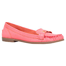 Buy KG by Kurt Geiger Kassidy Flat Loafers, Pink Leather Online at johnlewis.com