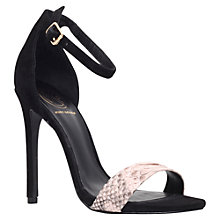 Buy KG by Kurt Geiger Joy Barely There Suede Sandals, Black/Beige Online at johnlewis.com