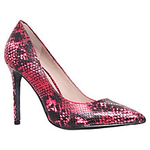 Buy KG by Kurt Geiger Bailey Pointed Court Shoes, Pink Online at johnlewis.com