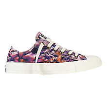 Buy Converse All Star Chuck Taylor Floral Canvas Ox Low-Top Trainers, Periwinkle Blue Online at johnlewis.com