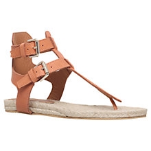 Buy Kurt Geiger Marla Leather Toe Thong Flat Sandals Online at johnlewis.com