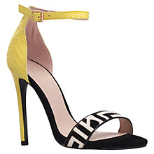Buy KG by Kurt Geiger Joy Pony Barely There High Heel Sandals, Yellow Online at johnlewis.com