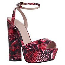Buy KG by Kurt Geiger Hero Platform High Heel Sandals, Pink Online at johnlewis.com