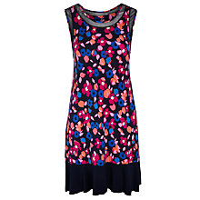 Buy DKNY Floral Print Chemise, Navy Online at johnlewis.com