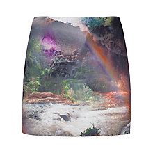 Buy Ted Baker Silloh Rainbow Waterfall Skirt, Multi Online at johnlewis.com