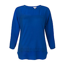 Buy Jigsaw Shirt Tail Jumper, Cobalt Online at johnlewis.com
