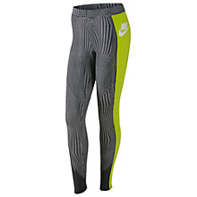Buy Nike Ru Fly Leggings, Anthracite/White Online at johnlewis.com