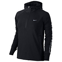 Buy Nike Dri-FIT Sprint Half Zip Hoodie, Black/Silver Online at johnlewis.com