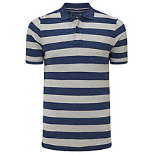 Buy John Lewis Organic Cotton Bold Breton Stripe Polo Shirt, Navy Online at johnlewis.com